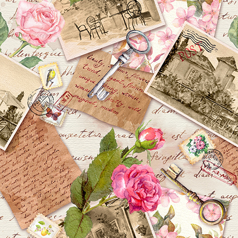 bfdca4f6a88c Vintage Collage – Cards   Stationery