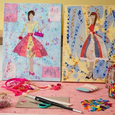 Vintage Collage – Canvas Girls