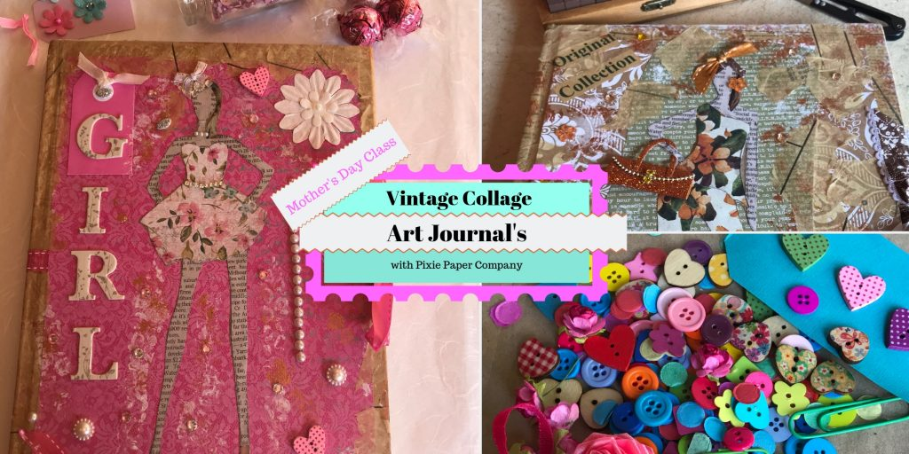 Vintage Collage art journals